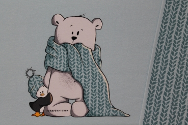 "Sommersweat/ French Terry Panel Eisbär ""Pfeiffer"" & ""Pinguplatsch"" von Emmapünktchen"