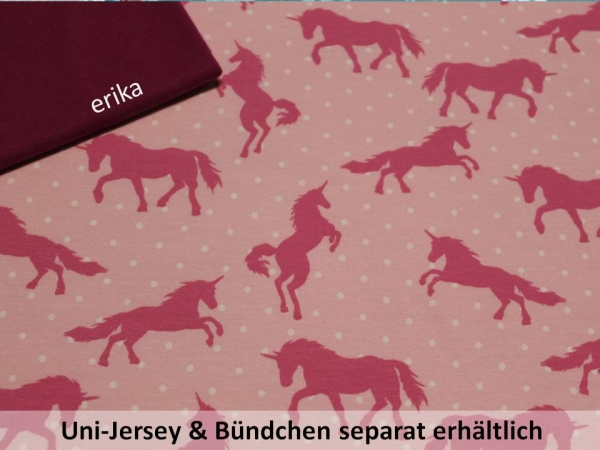 Sommersweat/ French Terry Einhorn rosa